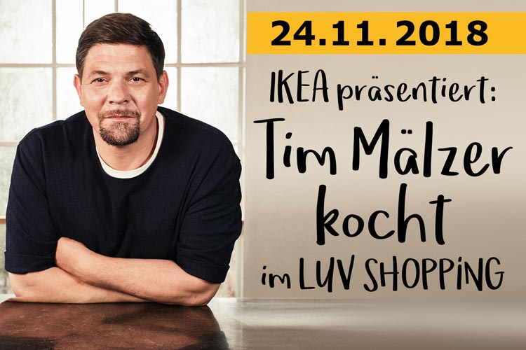 Tim Mälzer im LUV SHOPPING in Lübeck